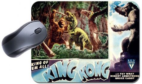 Vintage King Kong Movie Poster Mouse Mat. High Quality Fay Ray Film Mouse Pad